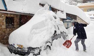 Fuertes nevadas en Europa Central: avisos rojos