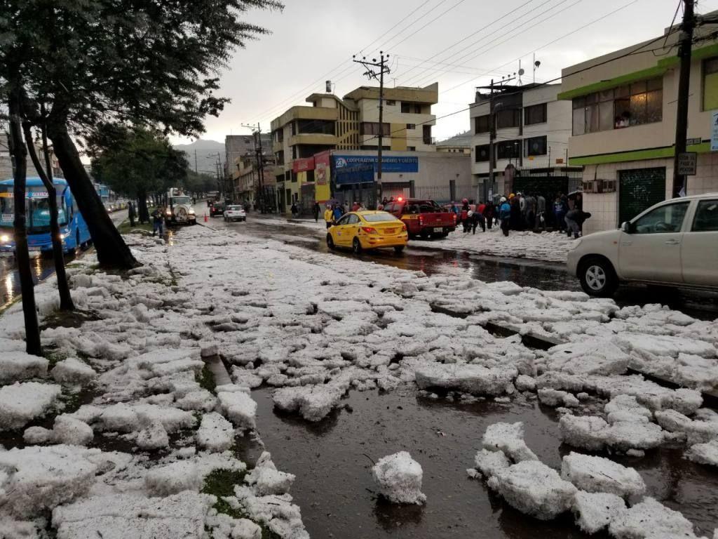 Calor, tormentas y granizo en México