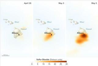 Fugas de dióxido de azufre del volcán Kilauea, Hawai