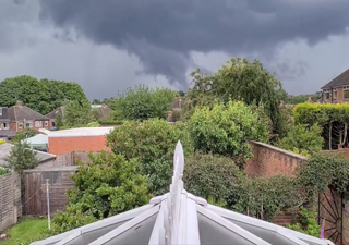 Funnel cloud video footage captured in Warwickshire and Yorkshire
