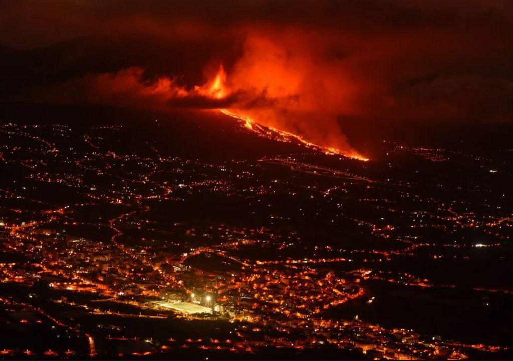 Volcán de La Palma lava gases tóxicos Canarias