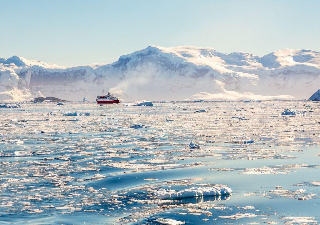 Antarctic glacier.