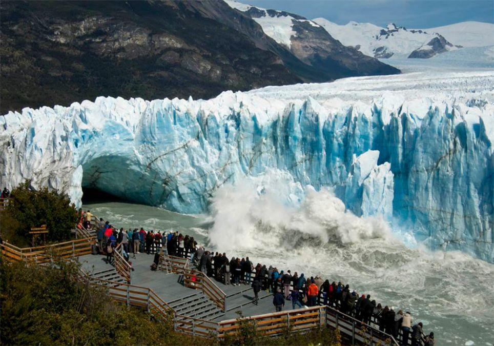 Glaciar Perito Moreno rompimiento