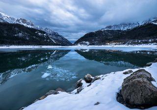 Glaciares sem neve no inverno