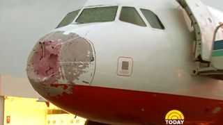 Granizo contra Airbus320