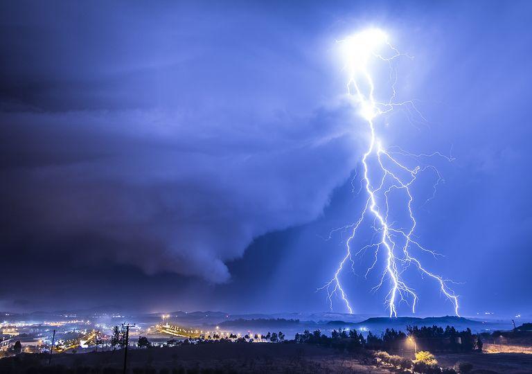 tormenta de noche