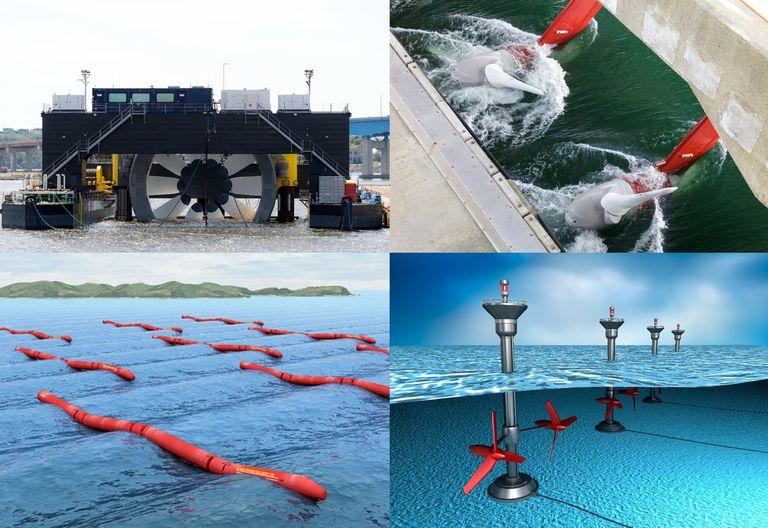 Ejemplos de prototipos de extracción de enegías marinas