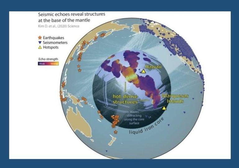 Núcleo Tierra enormes estructuras