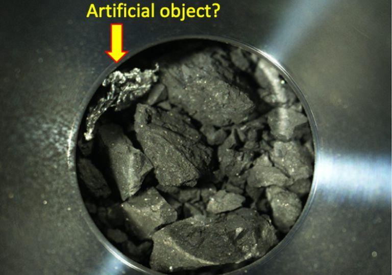 asteroide, suelo, capsula