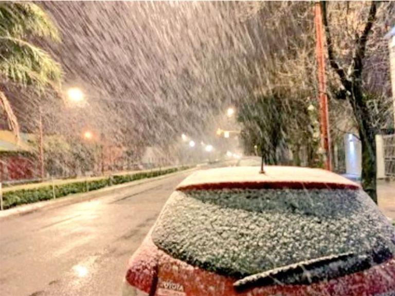 Tres Arroyos nieve nevada