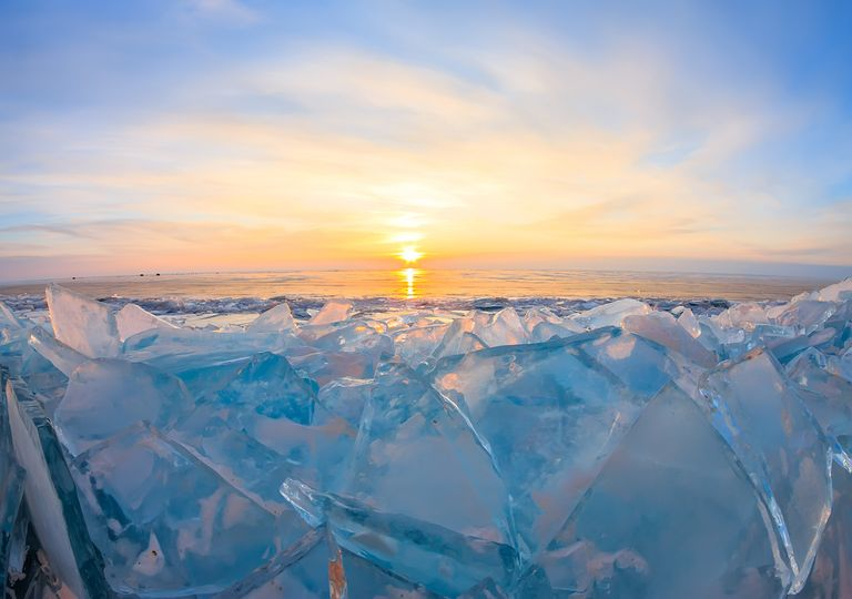 Ice in Siberia.