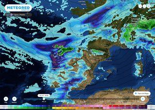 Fuerte temporal: Hortense pasará, pero el río atmosférico permanecerá