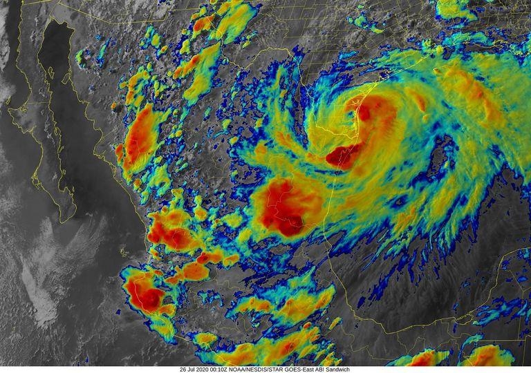 Imagen Satelital Huracán Hanna