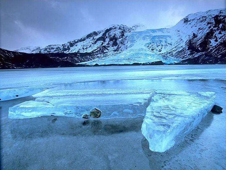 Glacier in Iceland.