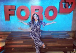 Icono femenino, presentadora del estado del tiempo en México