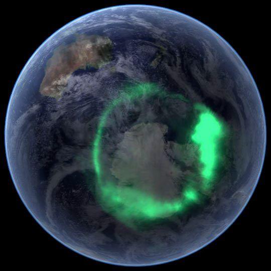 Imagen De La Aurora Desde El Espacio