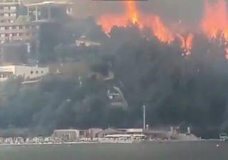 Imagens desoladoras dos incêndios na Região do Mediterrâneo