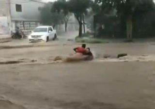 Imágenes dramáticas del fuerte temporal en Catamarca