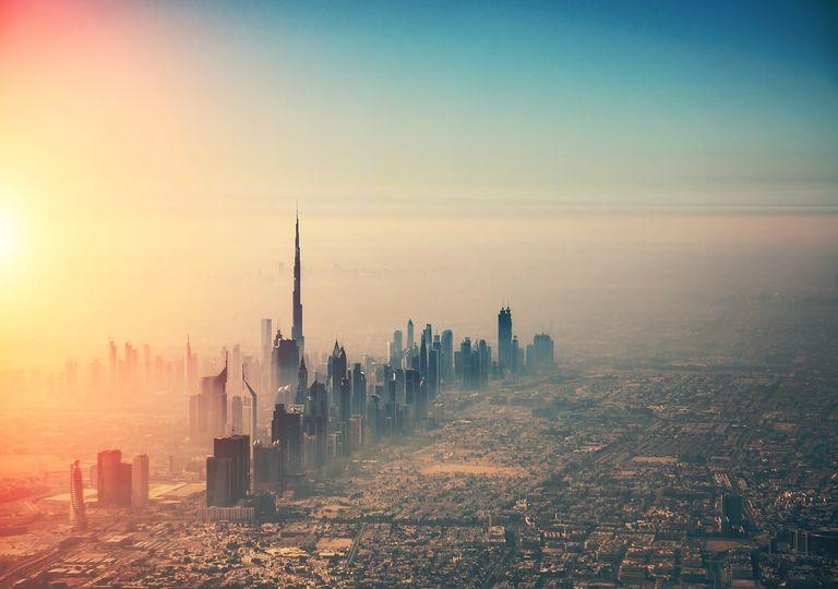 Niebla en Emiratos Árabes Unidos