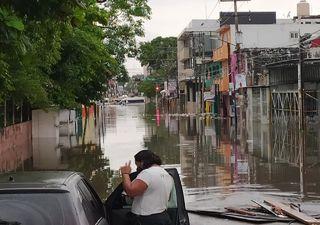 Importantes lluvias en Tabasco