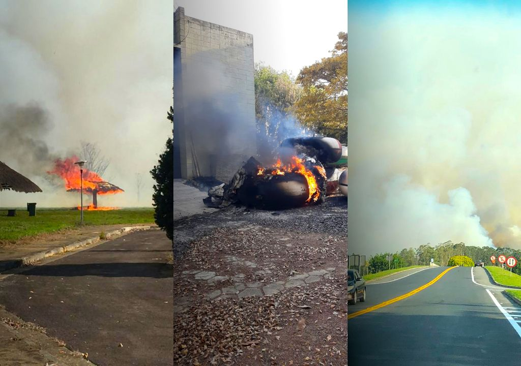 Incêndio atinge a sede do INPE em Cachoeira Paulista