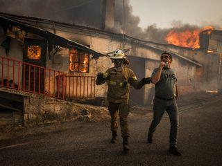 Incêndio no centro de Portugal já dura 48 horas
