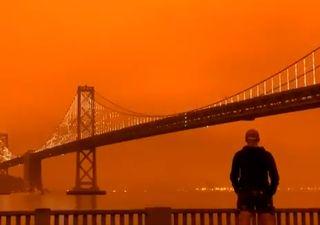 Incendios: el cielo de San Francisco como nunca lo viste
