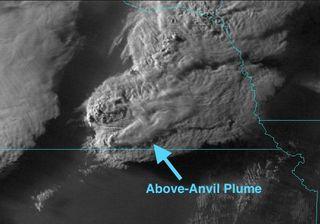 Indicadores de tiempo severo en imágenes de satélite, la AACP