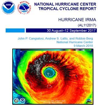 Informe técnico del huracán Irma