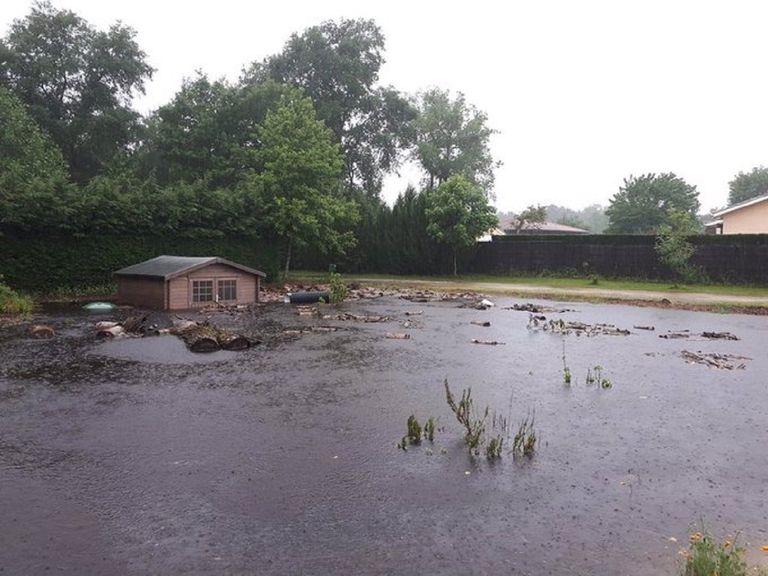 L'épisode d'intempéries a généré des inondations parfois marquées dans le sud-ouest, comme à Belin-Béliet (photo S. Goïcoechéa)