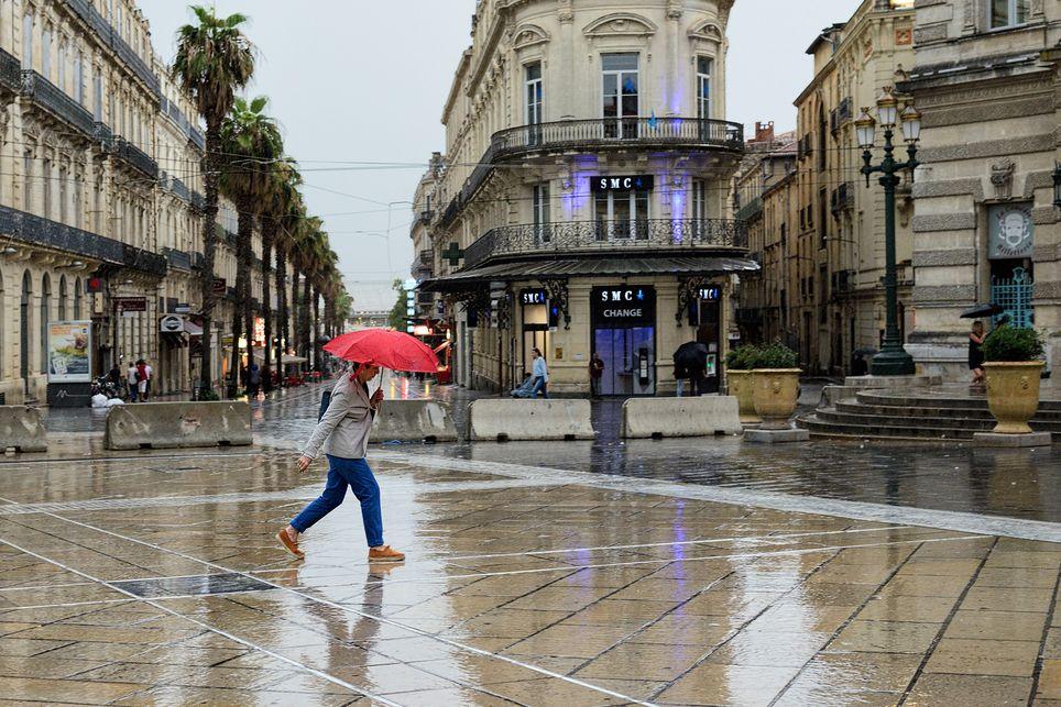 À Montpellier, l'équivalent de deux à trois mois de pluie est attendu en moins de deux jours.