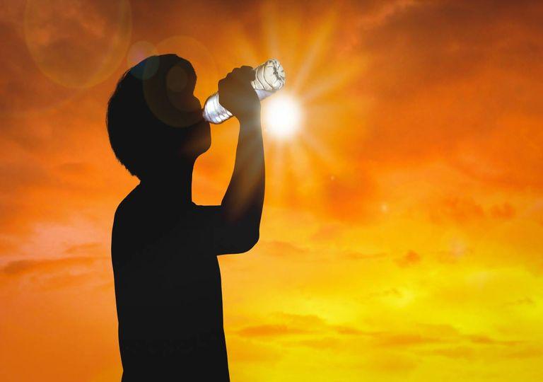 Onda de calor sol calor extremo água