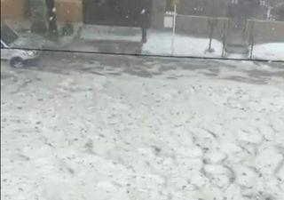 Intenso temporal de viento y granizo en Río Cuarto