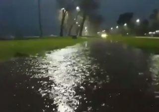 Schwere Überschwemmungen durch starken Wind!