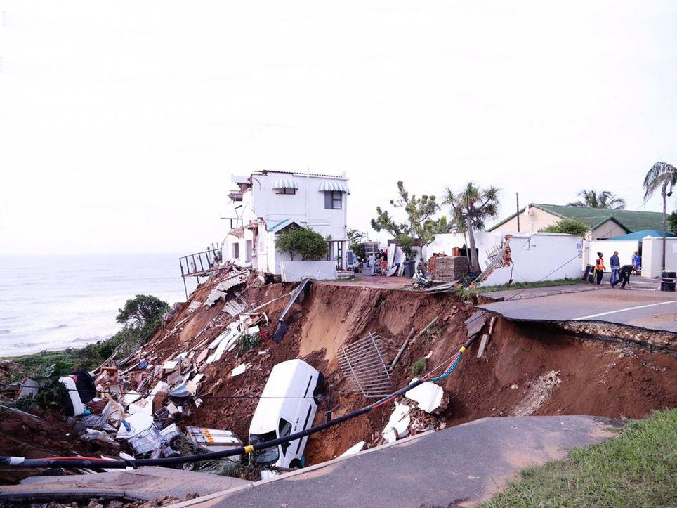 Inundaciones en Sudáfrica
