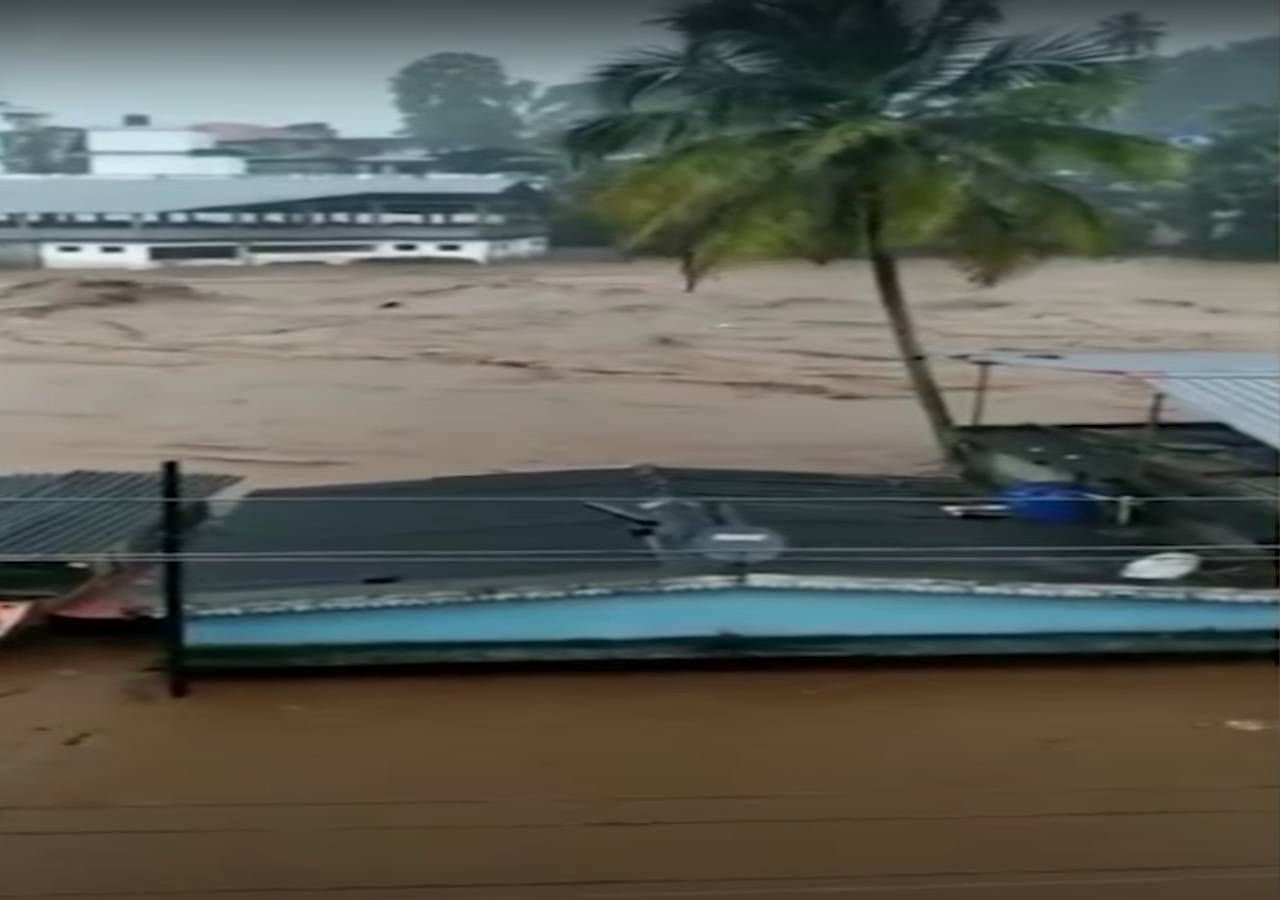 Sintflutartige Regenfälle verursachen Überschwemmungen!