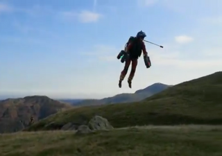 Inventor in jet suit 'rescues walkers' in Lake District