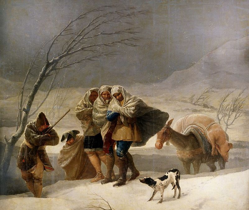 La nevada, Goya