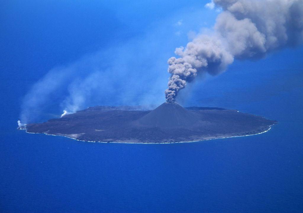 Japão, vulcão, ilha, satélite