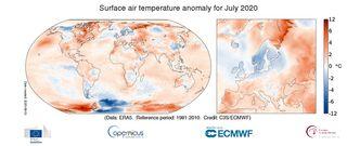 Julio 2020: El tercero más cálido por detrás de los de 2016 y 2019