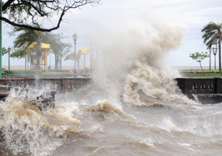 Sudestada lluvias vientos ráfagas crecida Río de la Plata alerta