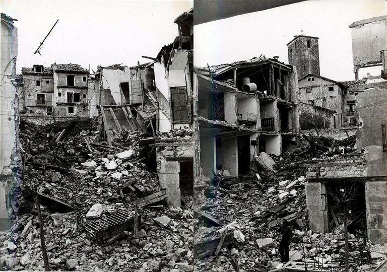 La localidad de Brihuega fue prácticamente destruida por los combates.