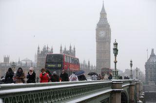 La Bestia del Este: tiempo adverso por nieve y hielo en Reino Unido