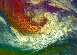 La borrasca Alex: fuertes vientos, lluvias y temporal duro