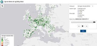 La calidad del aire en Europa mejora por el coronavirus