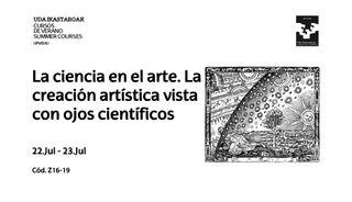 La ciencia en el arte: curso de verano 2019