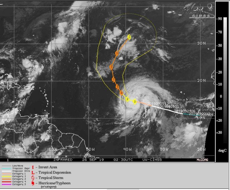 Huracán Lorenzo bajó a categoría 3 y la tormenta Karen se desvanece