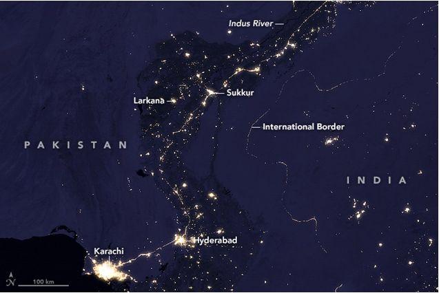La Cuenca Del Indo En La Noche