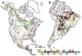 La degradación ambiental en la Tierra en un mapa
