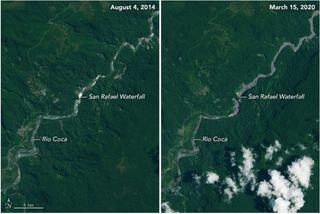 La desaparición de la cascada más alta de Ecuador